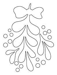 Image result for felt mistletoe template