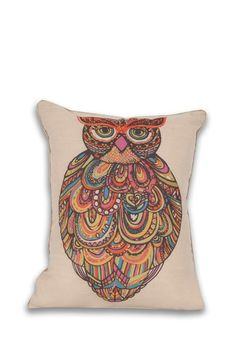{Craft Owl Reversible Pillow}