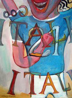 Vieri. Pintura sobre el futbol argentino a la venta del artista plastico Diego Manuel Rodriguez