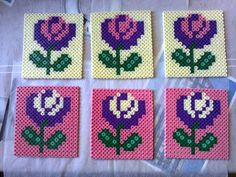 Coasters hama beads by nanane555