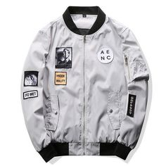 Cheap mens bomber jacket, Buy Quality designer mens jackets directly from China mens designer jackets Suppliers: Grandwish Fashion Men Bomber Jacket Hip Hop Patch Designs Slim Fit Pilot Bomber Jacket Coat Men Jackets Plus Size Bomber Coat, Bomber Jacket Men, Bomber Jackets, Men's Jackets, Cargo Jacket, Leather Jacket, Casual Jackets, Cool Jackets, Outerwear Jackets