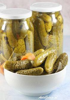 Ogórki konserwowe. pickled cucumbers. Allrecipes, Pickles, Cucumber, Canning, Jars, Food, Polish Food Recipes, Pots, Essen