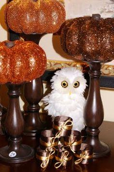 Glittered Halloween Pumpkins