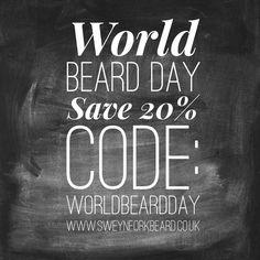 Special Offer Save 20% with the code WORLDBEARDDAY www.sweynforkbeard.co.uk #worldbeardday #beard #bearded #beardoil #beardbalm #beardshampoo #vikings #mensgrooming #claypomade #moustachewax #barba #beardie #beardlife #barber #barberia #beardgang #malegrooming #beardlove #beardedmen #hairdresser #sweynforkbeard #barberlife #menstyle #mensfahion #london #beardnation #barbudo #barba #barbershop