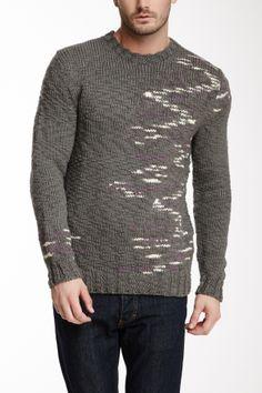 EDUN Hand Knit Wool Painterly Sweater