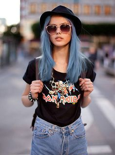cyan-hair.tumblr by clairegrenade, via Flickr