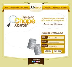 Caça ao chope do Albanos - Hotsite