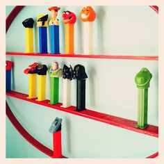 Little Bit Funky: 20 minute crafter-- Pez dispenser display. Could be cute for Lego guys, too.