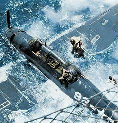 Grumman TBF Avenger after been ditched USS Bataan 29 march 1944