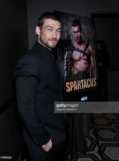 Actor Andy Whitfield attends the premiere of 'Spartacus: Blood and Sand' at the Tribeca Grand Screening Room on January 19, 2010 in New York City.