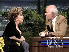 """Bette Midler and Johnny Carson Sing """"Here's That Rainy Day"""" on """"The Tonight Show"""" - 1992"""