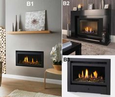 www.firesandfireplaces.org.uk. Hole in wall gas fires by The Connelly Collection.
