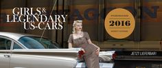"""Jetzt lieferbar - Now available! """"Girls & legendary US-Cars"""" 2016 calendar. Limited and numbered to 2016 pieces. Order now: www.sway-books.de (Germany) / www.ars-vivendi.de (other Countries)"""