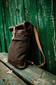 Wool felt backpack by Kruk Garage Men's backpack by KrukGarage