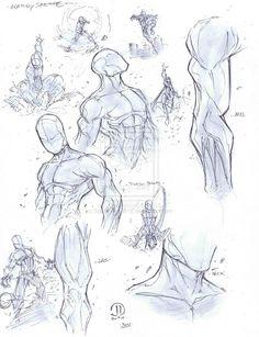 Anatomy warm ups by JoeyVazquez.deviantart.com on @deviantART