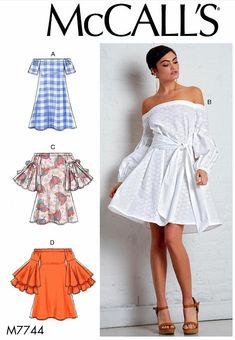 1c819cd3100da9 Items similar to Sewing Pattern Womens Tunic Pattern, Off Shoulders Tunic  Pattern, Off Shoulders Dress Pattern, McCall's Sewing Pattern 7744 on Etsy