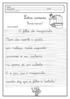 No blog Atividades Pedagógicas Suzano você encontra diversas atividades para Educação Infantil e Ensino Fundamental. Puzzle Books, Professor, Handwriting, Sheet Music, Homeschool, Lettering, Reading, Words, Nara