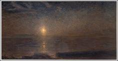 Painting: Nocturne - Axel Fahlcrantz Johan Algot Haquinius (July Sveg – February Stockholm) was a Swedish pianist and composer of classica. Algot, Prince, Sun And Stars, Black Sails, Impressionism Art, Nocturne, Moonlight, Landscapes, Paintings