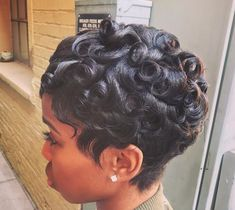 Cute pin curls @thebeautyfreek - https://blackhairinformation.com/hairstyle-gallery/cute-pin-curls-thebeautyfreek/
