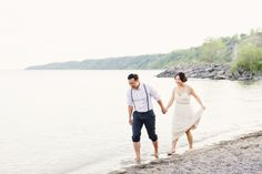 Romantic engagement session at the Scarborough Bluffs: http://www.stylemepretty.com/canada-weddings/ontario/toronto/2014/07/28/romantic-engagement-session-at-scarborough-bluffs/ | Photography: http://www.artiesestudios.com/