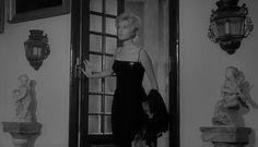 """Monica Vitti in """"L'Avventura"""" (1960, Michelangelo Antonioni) / Cinematography by Aldo Scavarda"""