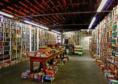 inside Larry McMurtry's Bookstore, Archer City, Texas
