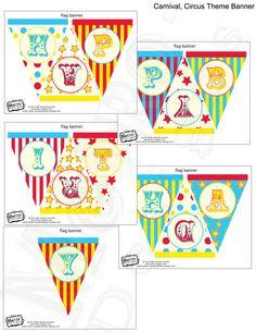 Circus Carnival PRINTABLE DIY Custom Banner Digital by MetroEvents, $5.98