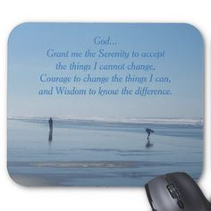 Serenity Prayer Beach Walk Mouse Pad #inspirationalverse #computeraccessories #pcneeds