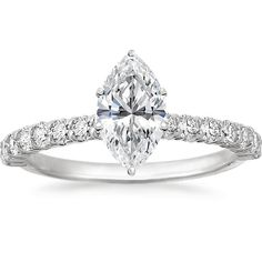18K White Gold Shared Prong Diamond Ring from Brilliant Earth