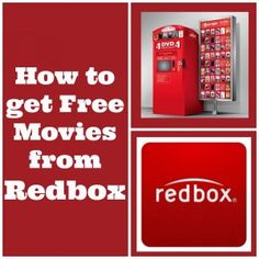 Redbox: How to get FREE Movies from Redbox www.slickhousewives #redbox #movies #free