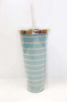 Straw Tumbler-Seaside Stripe #4thofjuly #accessories #drinkware #gift #home…