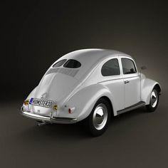 1949 Volkswagen Beetle--the model with which the VW Beetle phenomenon began in the US! #classicvolkswagenbeetle