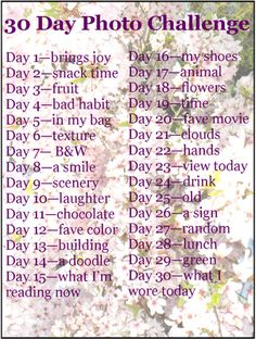 The Jansson Family: 30 Day Photo Challenge