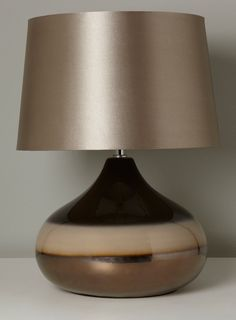 Photo 2 of Chocolate Ruben Table Lamp Large Table Lamps, Bedside Table Lamps, Desk Lamp, British Home, Home Lighting, Perfect Place, Home Accessories, Chocolate, Bedroom