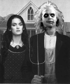 American Gothic-Beetlejuice by ~Keantha on deviantART