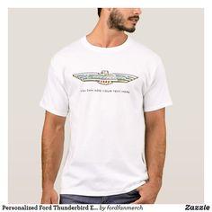 Personalized Ford Thunderbird Emblem / Logo Tshirt #zazzle #MrTbird #thunderbird #fordclassiccars #1950s #classiccars #giftsformen