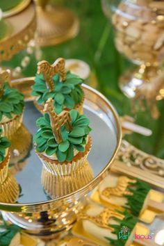 Safari Cupcakes from a Golden Safari Birthday Party on Kara's Party Ideas | KarasPartyIdeas.com (27)