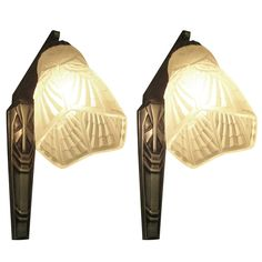 Pair of Original French Art Deco 1920's Tulip Sconces | From a unique collection of antique and modern wall lights and sconces at http://www.1stdibs.com/furniture/lighting/sconces-wall-lights/