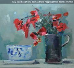 Mary Davidson (China Bowl and Wild Poppies, Gullane Art Gallery)