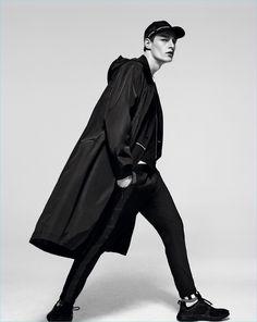 Roberto Sipos dons an oversized parka for Zara Man
