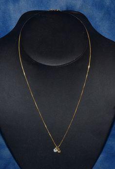 AURAFIN 18K GOLD ITALY ROUND SERPENT LINK CHAIN NECKLACE W/ 14K KISS+DQ CZ HEART #Aurafin #Chain