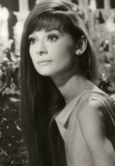 Audrey so stunning  MY mom use call me Audrey when I was being drama queen.  We both auburn  hair and bangs