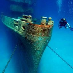 scuba diving wreck shot from Instagram fan - Getting my @PADI wreck diving certification is on my To Do list!