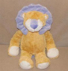 "Baby Ganz Tan Purple Hug A Longs Lion Plush Stuffed Animal 15"" Toy Floppy BG2496 #GANZ"