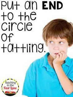 A blog post with an actionable plan for dealing with tattling within the classroom.