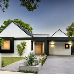Exterior Home Design Ideas. Designing a house is an extremely exciting project. Well, it is a major purchase and we must always consider that important point. The fun component o. Modern Exterior, Exterior Design, Construction Design, Park Homes, Facade House, House Front, Modern House Design, Home Fashion, Building A House