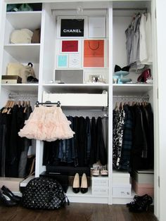 Lovely decor idea for a closet!