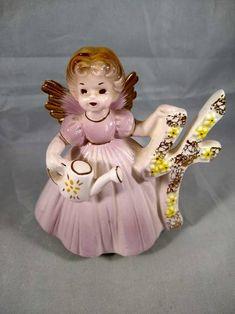 Birthday Angel, 4th Birthday, Vintage Birthday, Flat Rate, Eye Color, Birthdays, Porcelain, United States, Gift Wrapping