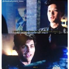 OMG ALEC MY POOR BABY...he was so awkward but the Malec feels were too much during BTS!!