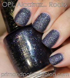 OPI Liquid Sand: Alcatraz...Rocks (Prim and Polished: A Nail Polish Blog)